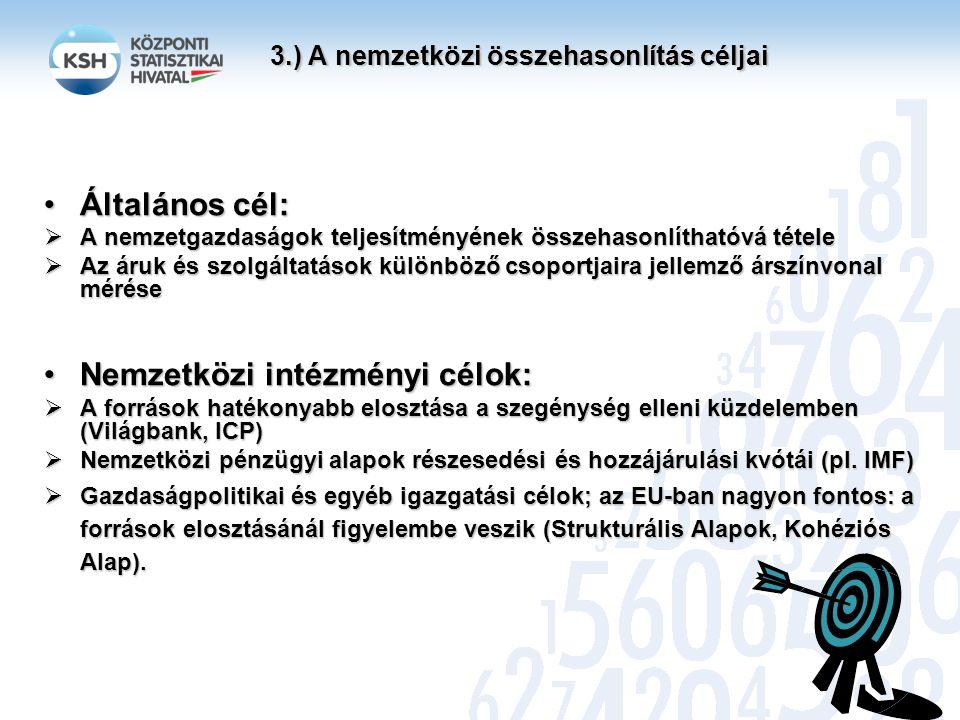 3.) A nemzetközi összehasonlítás céljai