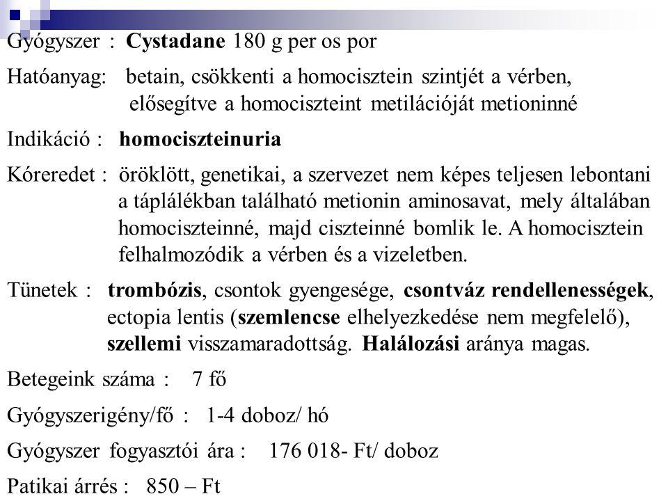 Gyógyszer : Cystadane 180 g per os por