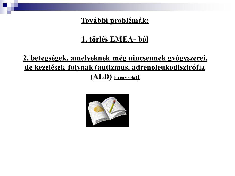 További problémák: 1, törlés EMEA- ból.