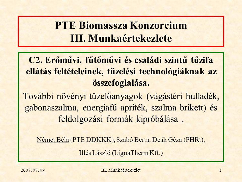 PTE Biomassza Konzorcium III. Munkaértekezlete