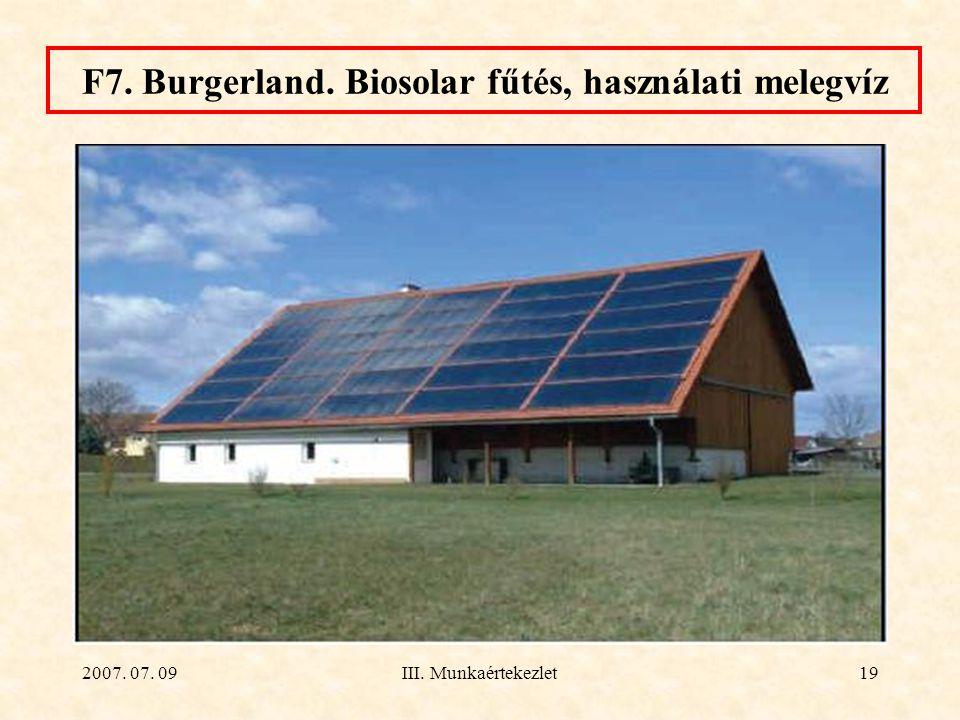 F7. Burgerland. Biosolar fűtés, használati melegvíz