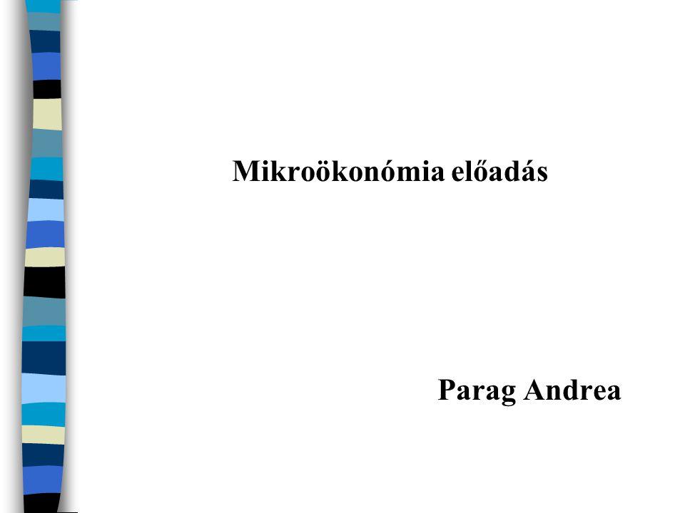 Mikroökonómia előadás