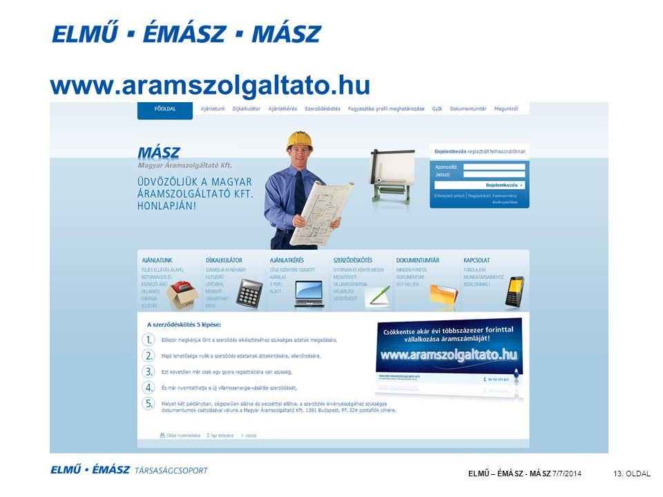 www.aramszolgaltato.hu