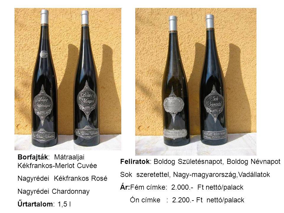 Borfajták: Mátraaljai Kékfrankos-Merlot Cuvée