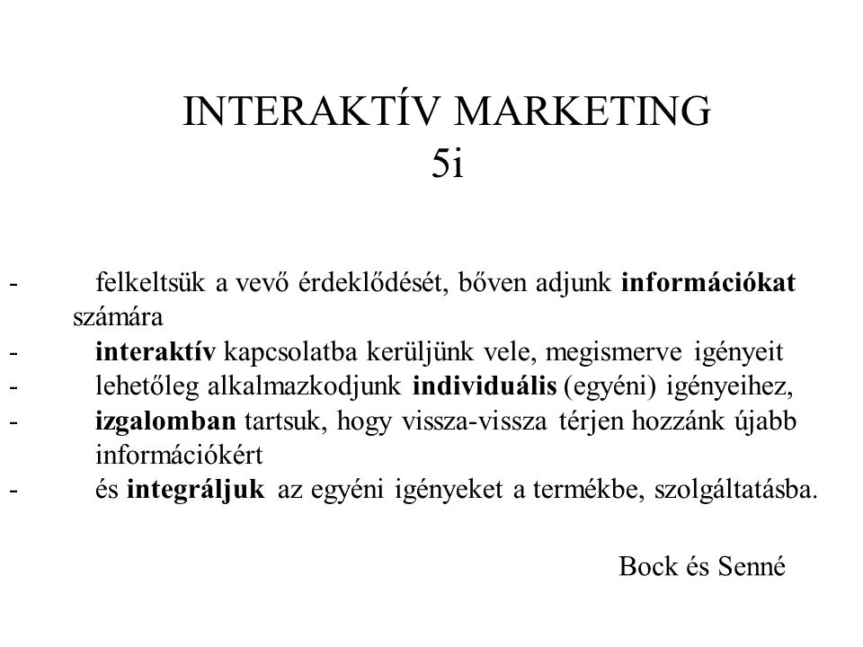INTERAKTÍV MARKETING 5i