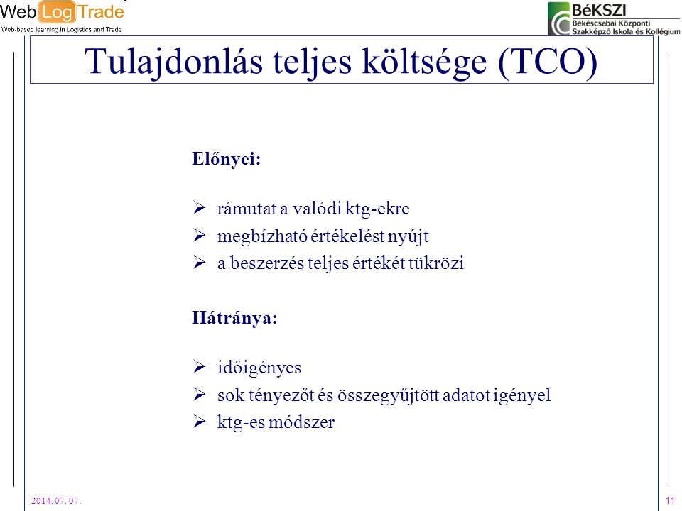 Tulajdonlás teljes költsége (TCO)
