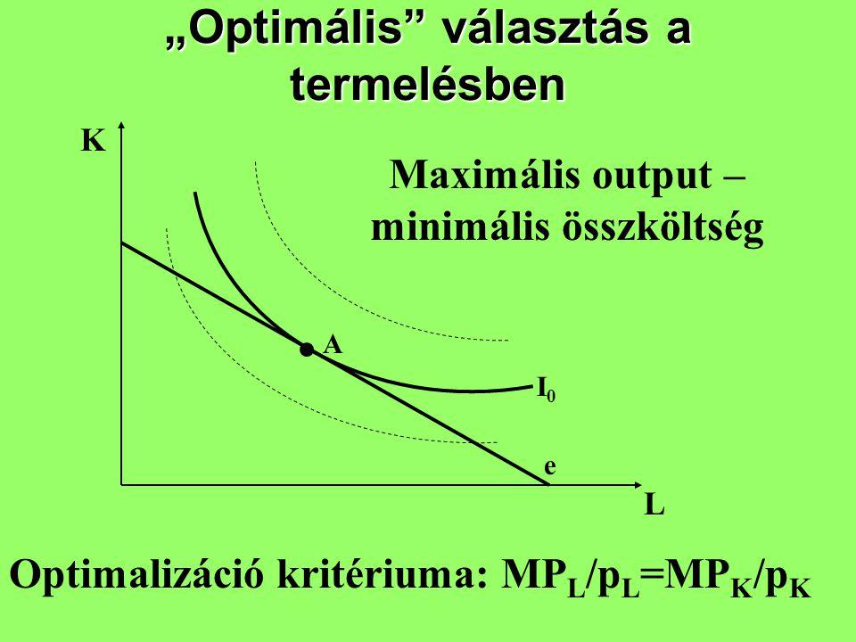 """""""Optimális választás a termelésben"""