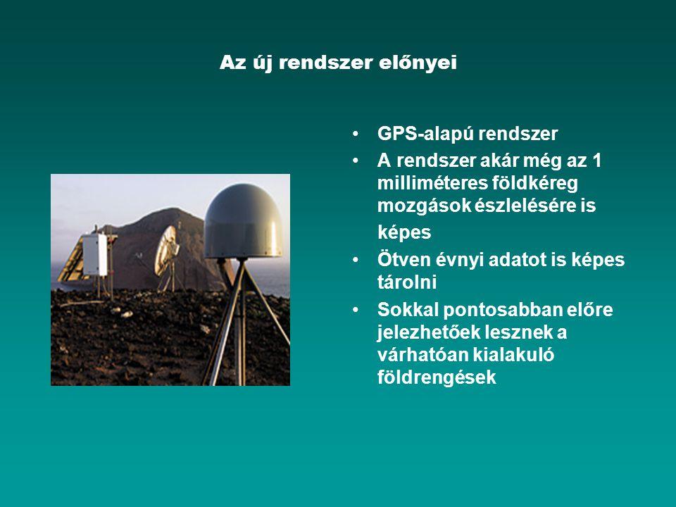 Az új rendszer előnyei GPS-alapú rendszer