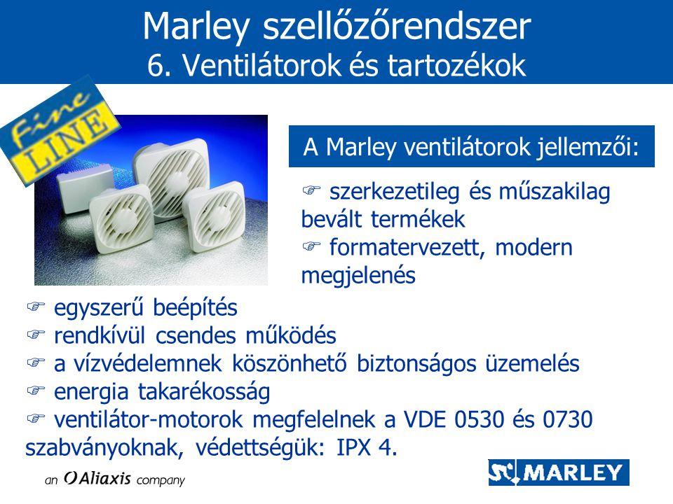 Marley szellőzőrendszer 6. Ventilátorok és tartozékok