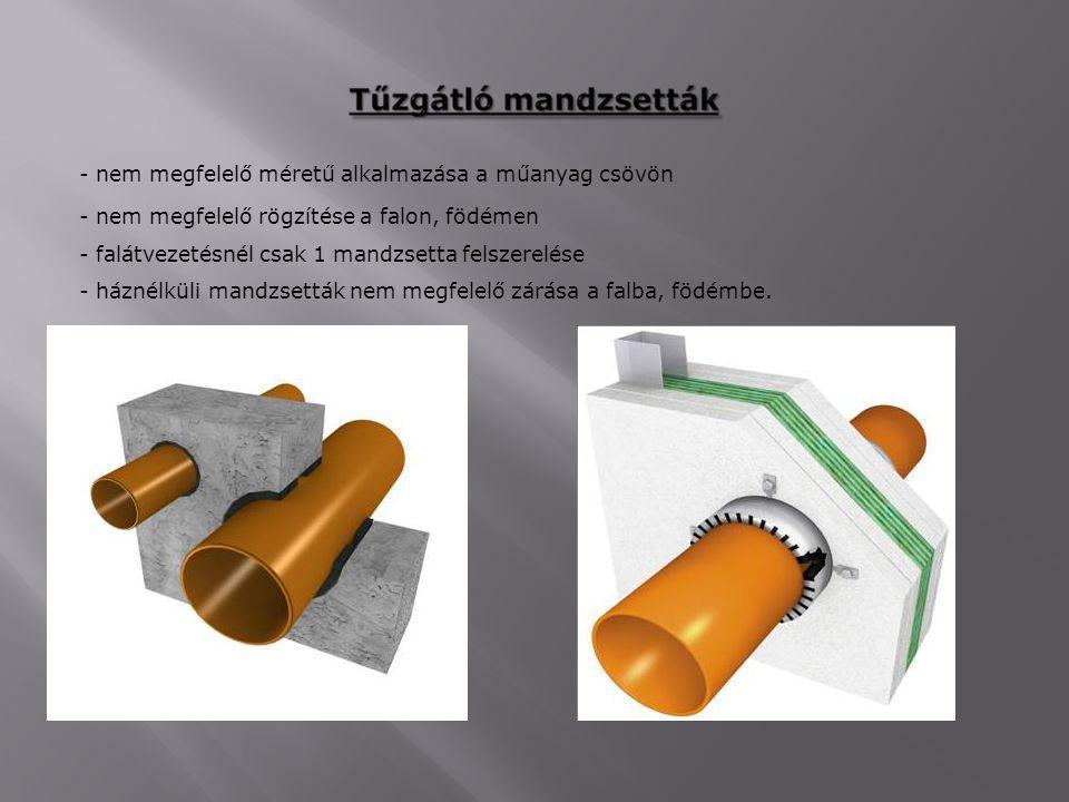 - nem megfelelő méretű alkalmazása a műanyag csövön