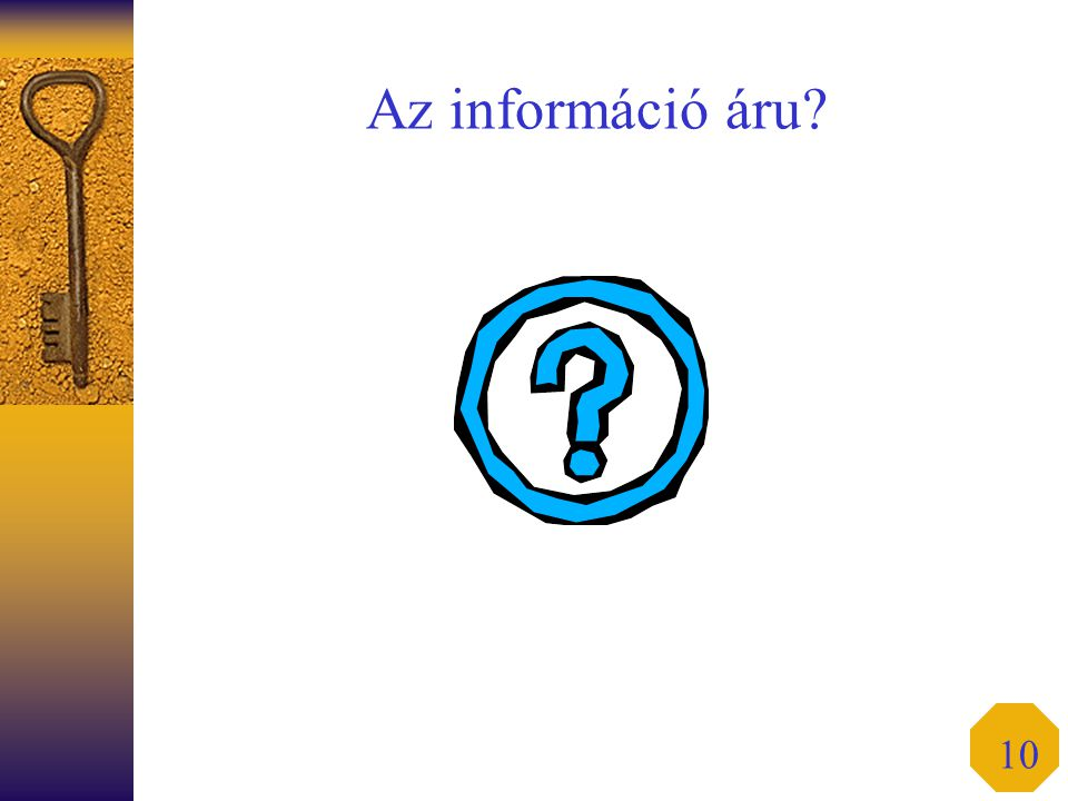 Az információ áru