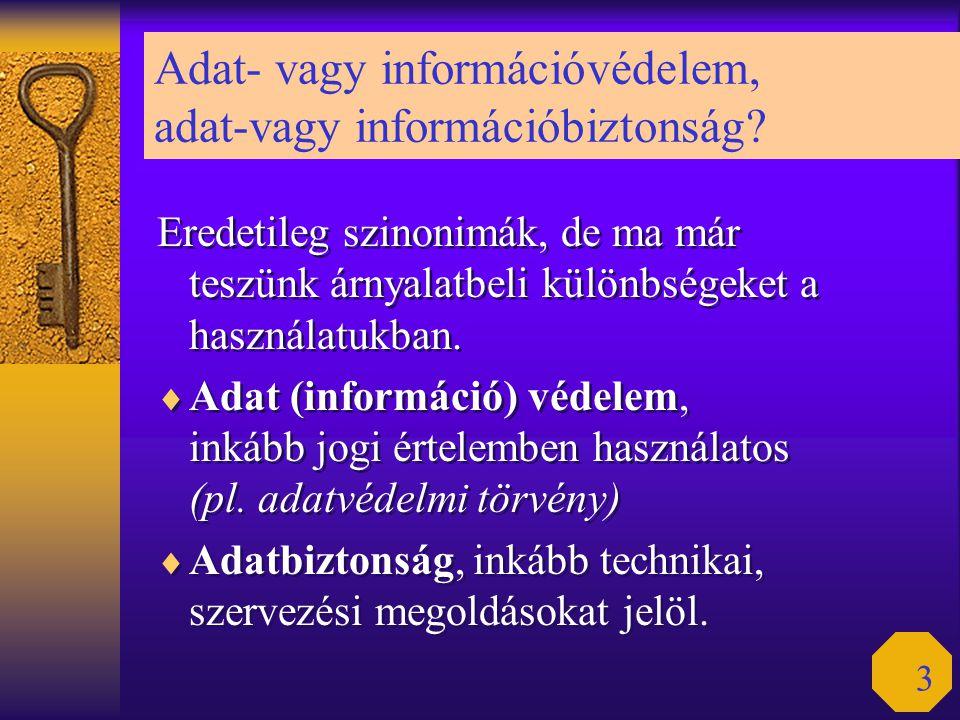 Adat- vagy információvédelem, adat-vagy információbiztonság