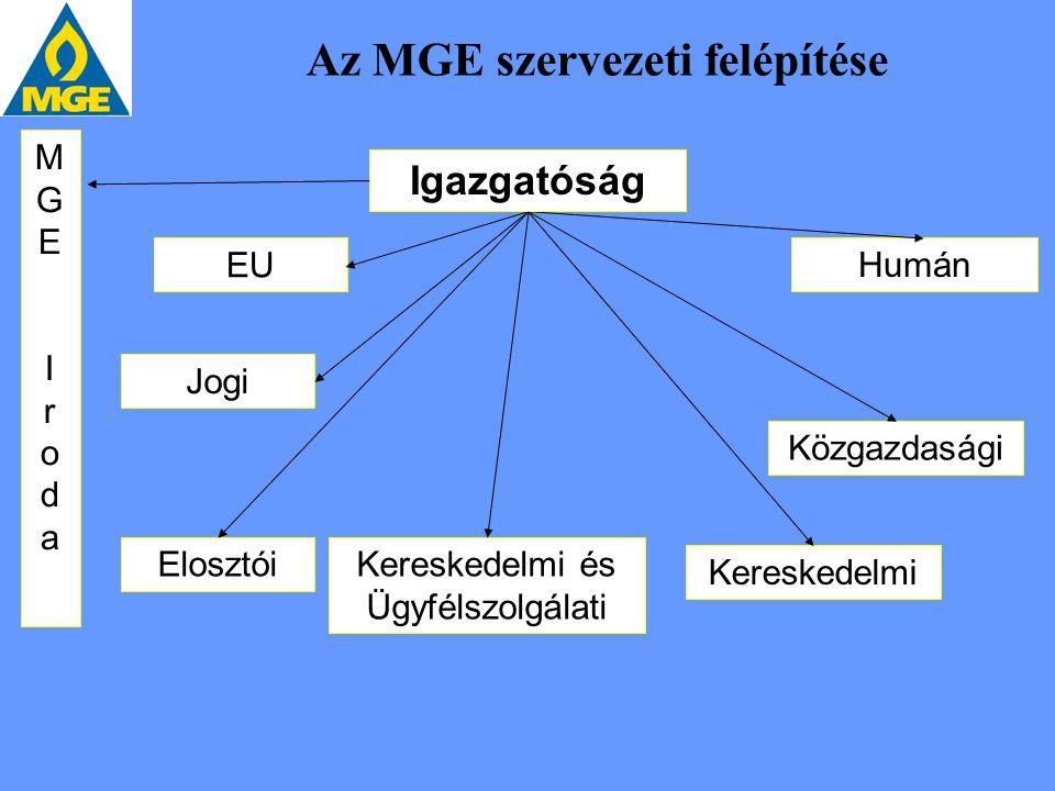 Az MGE szervezeti felépítése