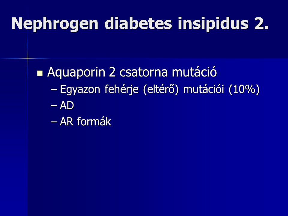 Nephrogen diabetes insipidus 2.