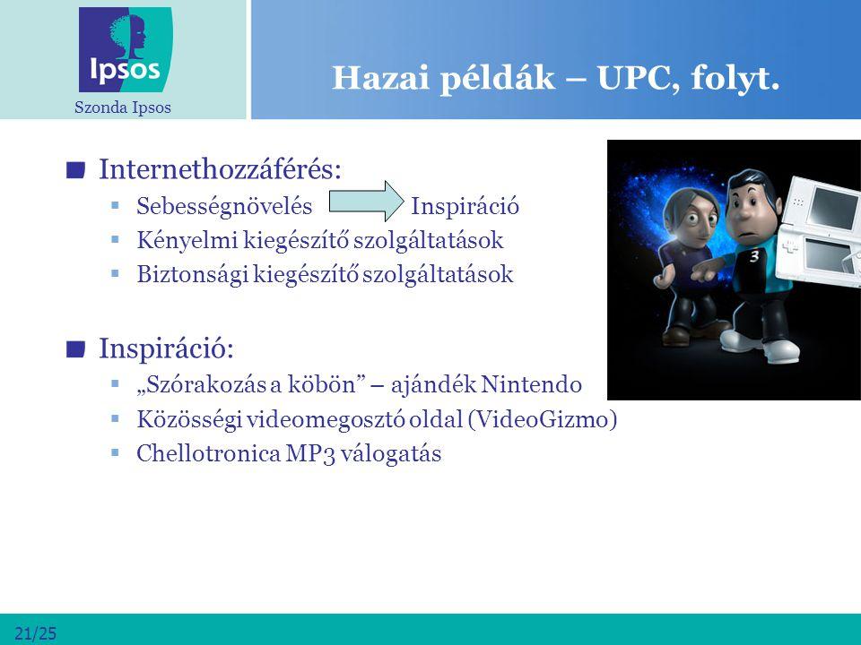 Hazai példák – UPC, folyt.