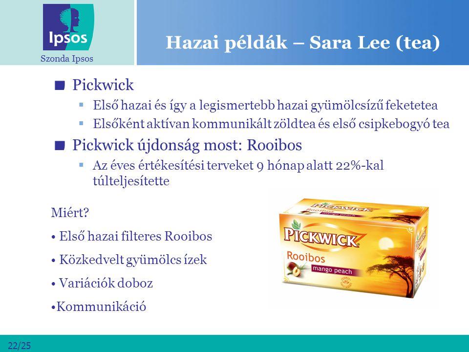 Hazai példák – Sara Lee (tea)