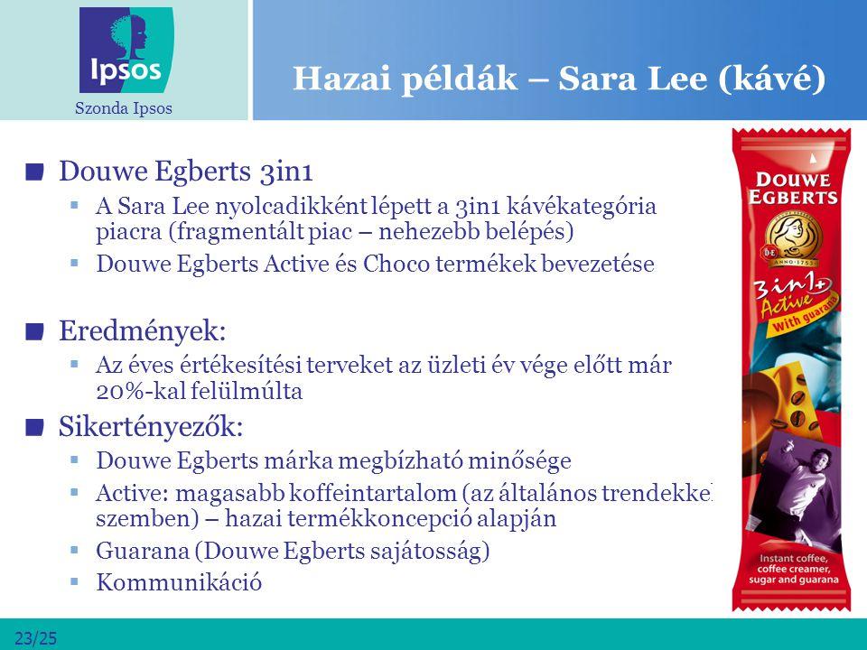 Hazai példák – Sara Lee (kávé)
