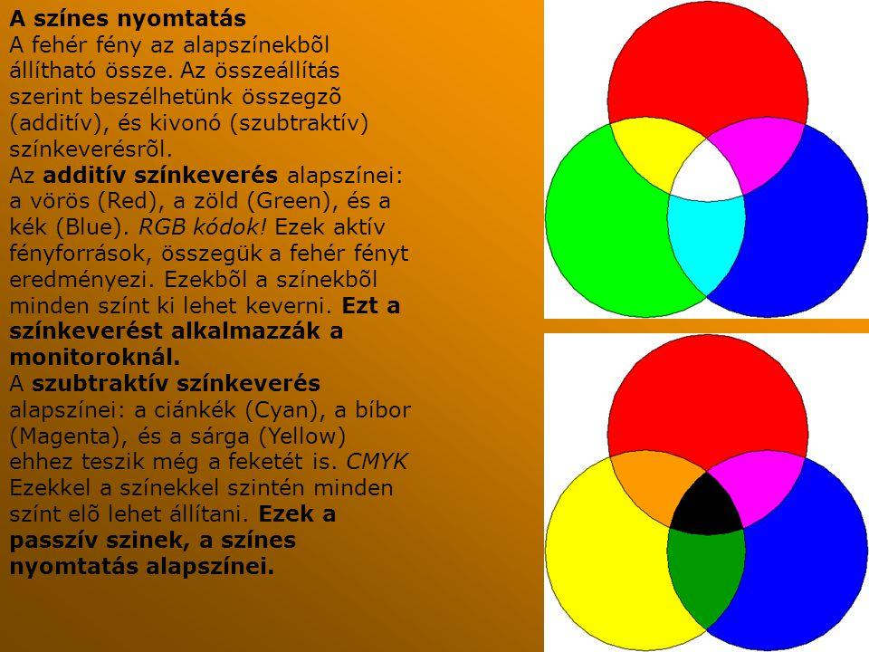 A színes nyomtatás