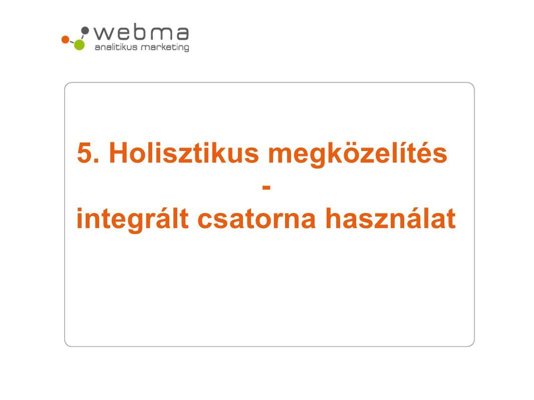 5. Holisztikus megközelítés - integrált csatorna használat