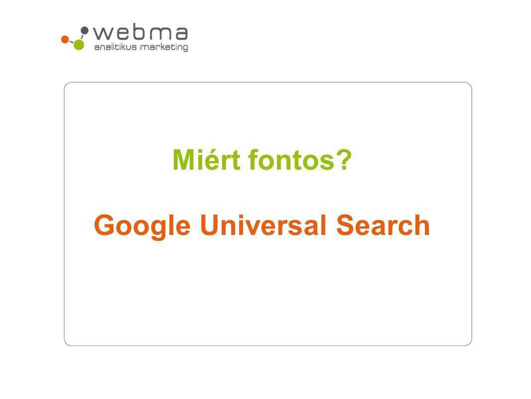 Google Universal Search