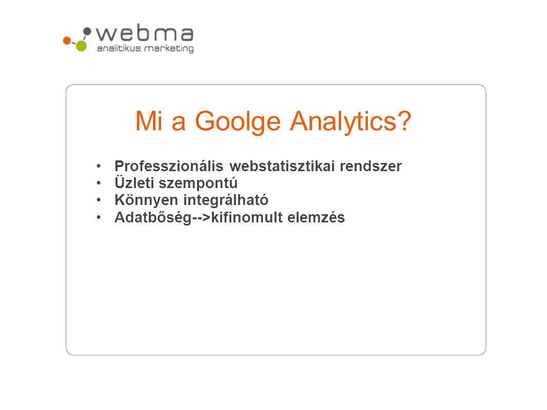 Mi a Goolge Analytics Professzionális webstatisztikai rendszer