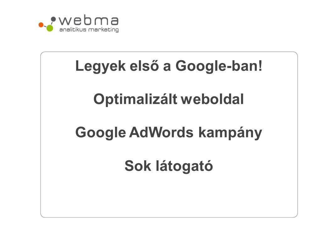 Legyek első a Google-ban