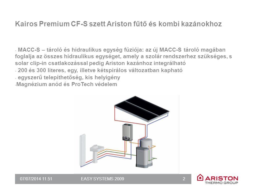 Kairos Premium CF-SC szett idegen fűtő és kombi kazánokhoz
