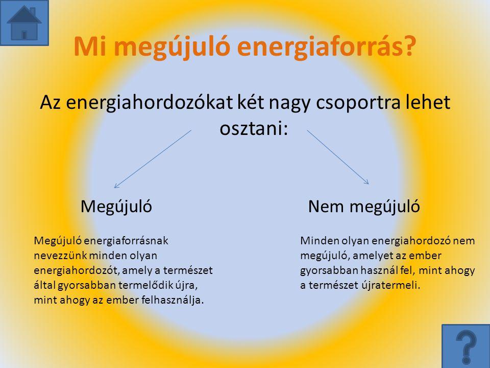 Mi megújuló energiaforrás