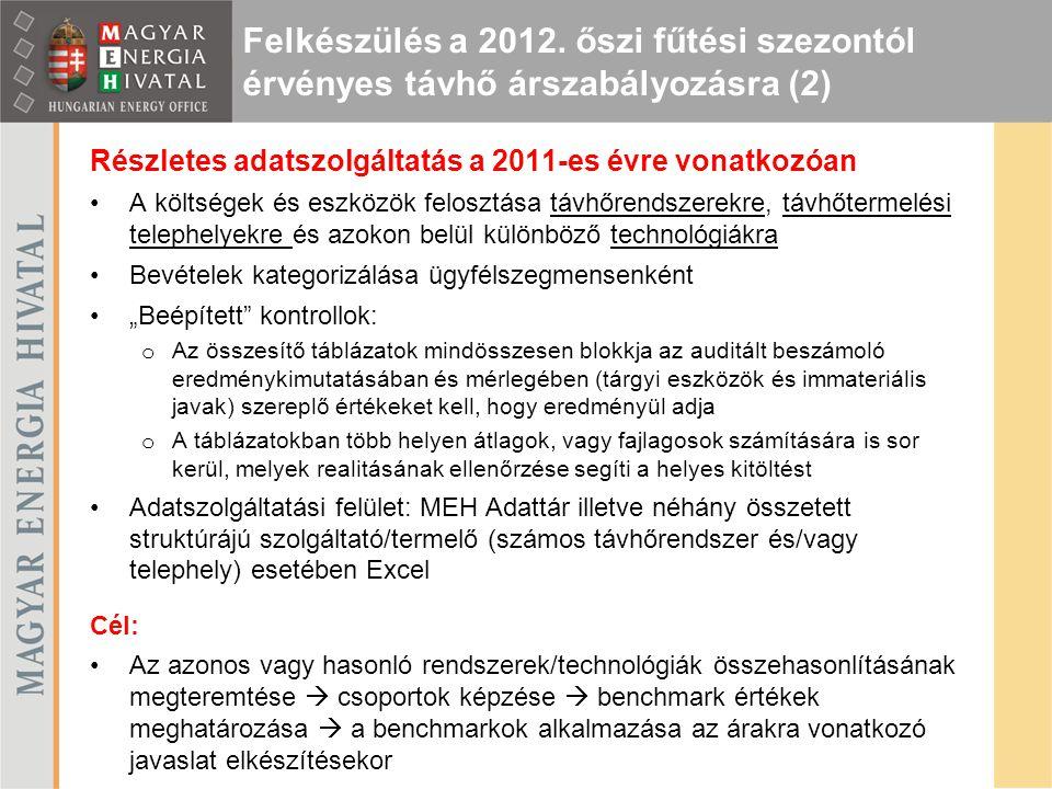 Felkészülés a 2012. őszi fűtési szezontól érvényes távhő árszabályozásra (2)