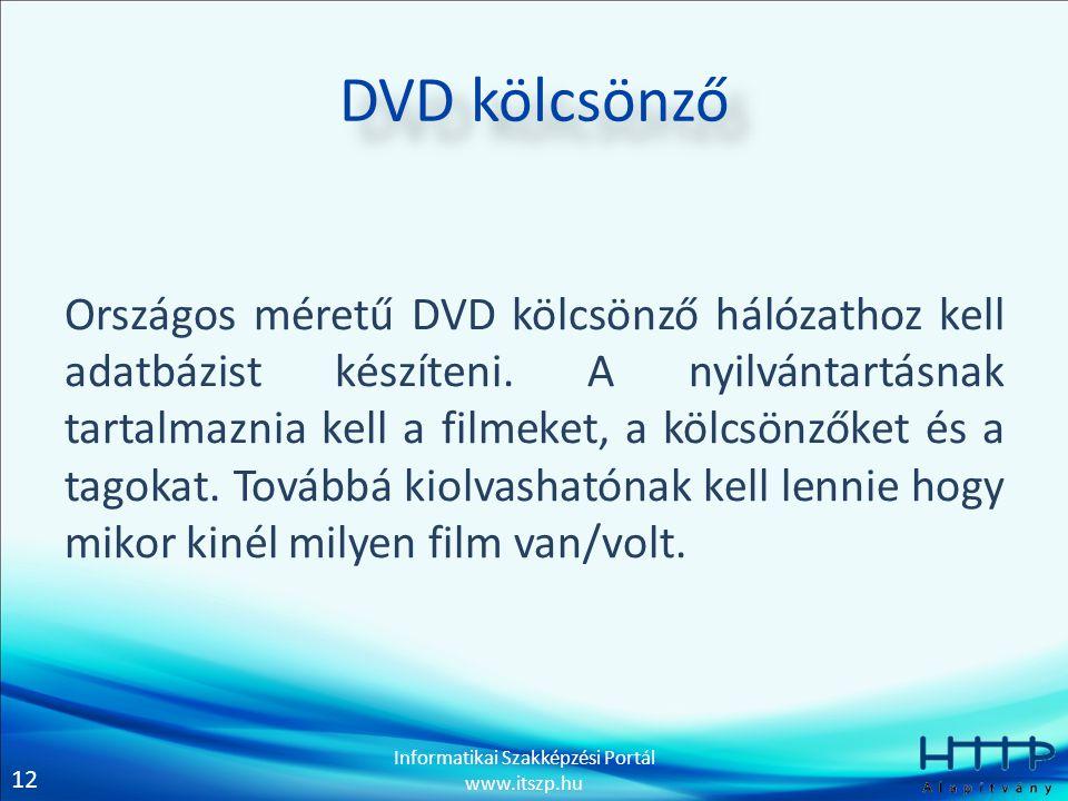 DVD kölcsönző