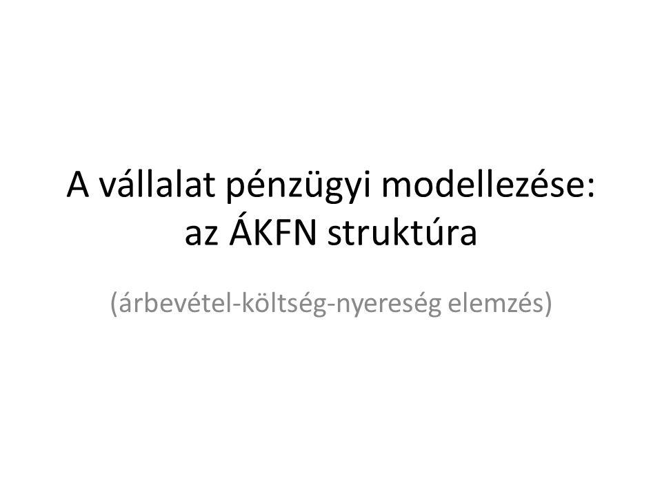 A vállalat pénzügyi modellezése: az ÁKFN struktúra