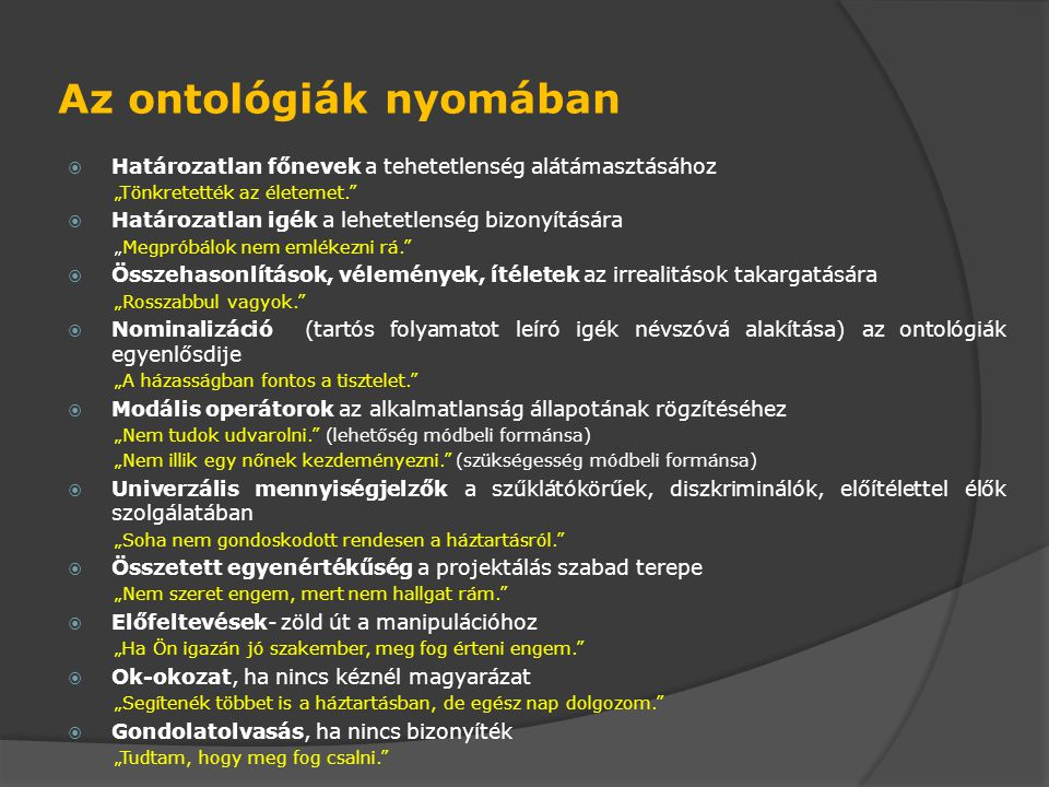 Az ontológiák nyomában