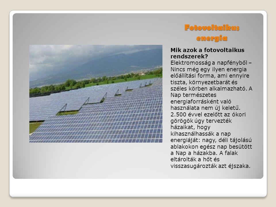 Fotovoltaikus energia