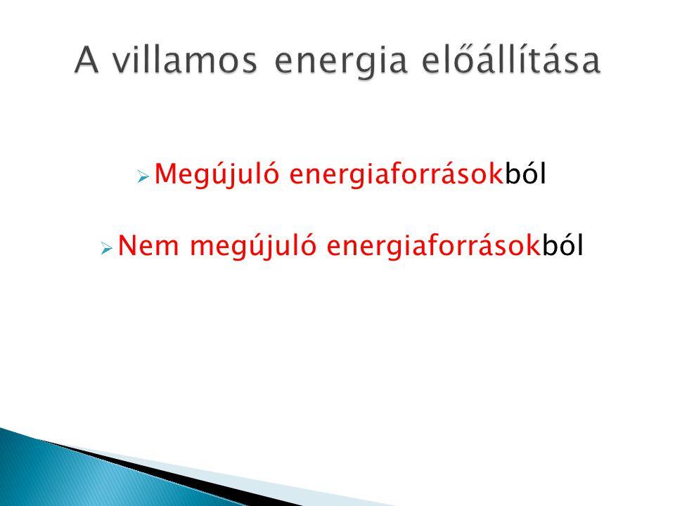 A villamos energia előállítása