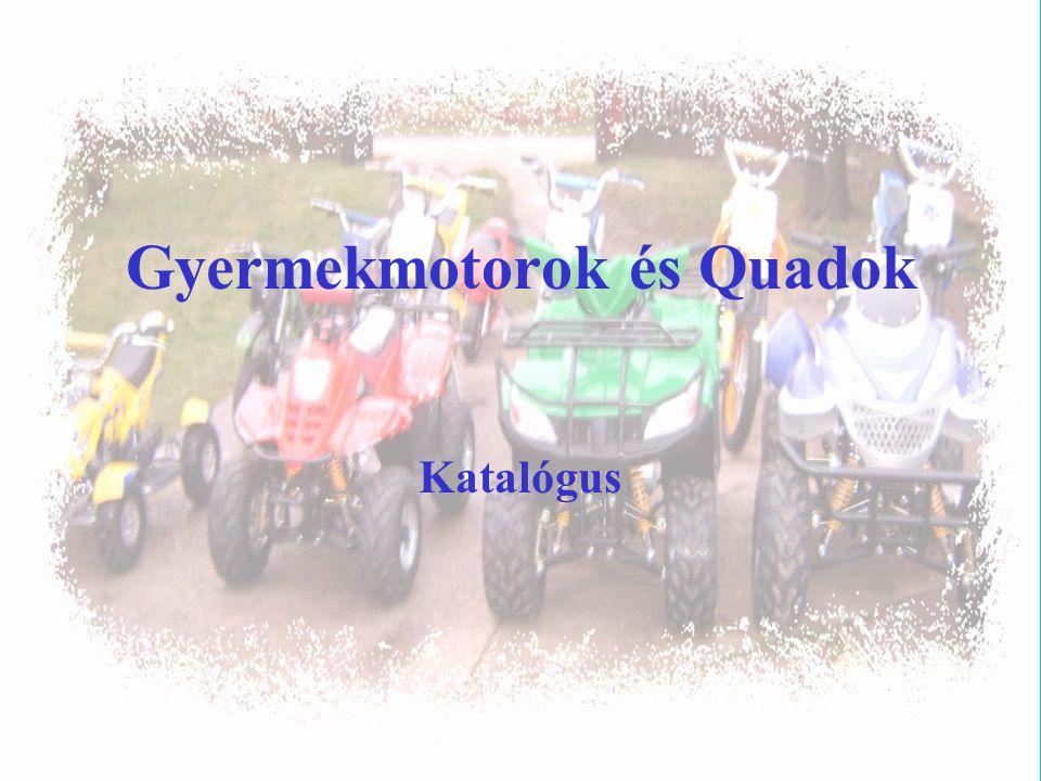 Gyermekmotorok és Quadok