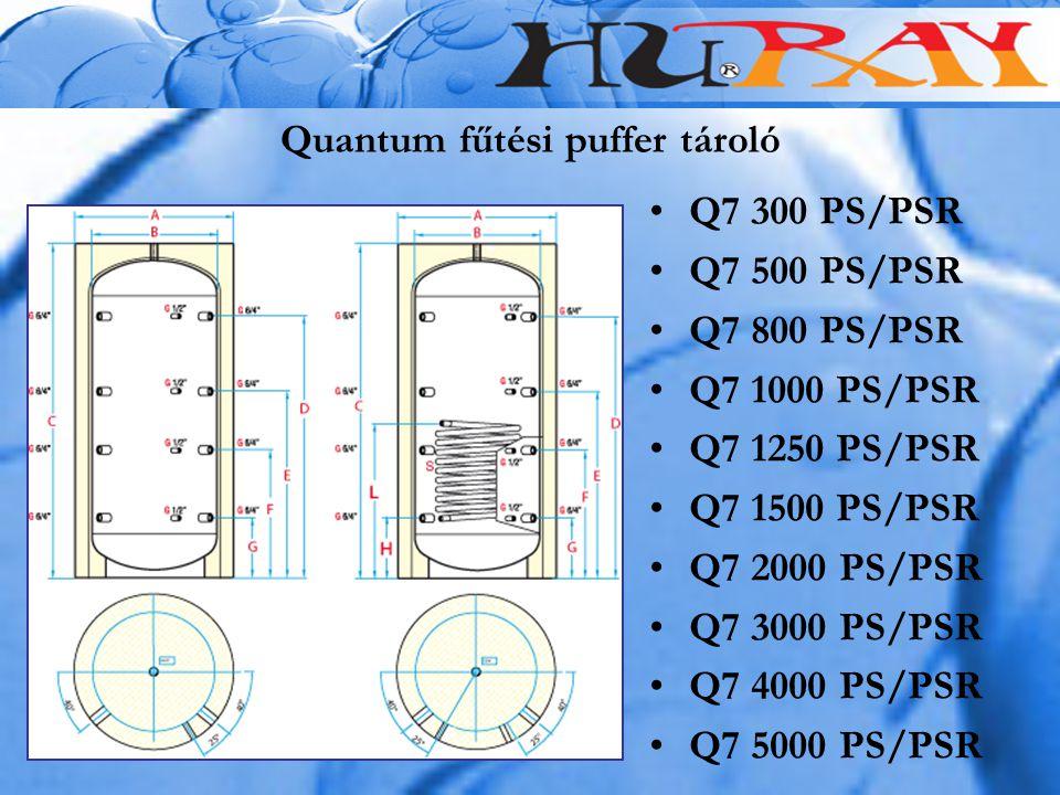 Quantum fűtési puffer tároló