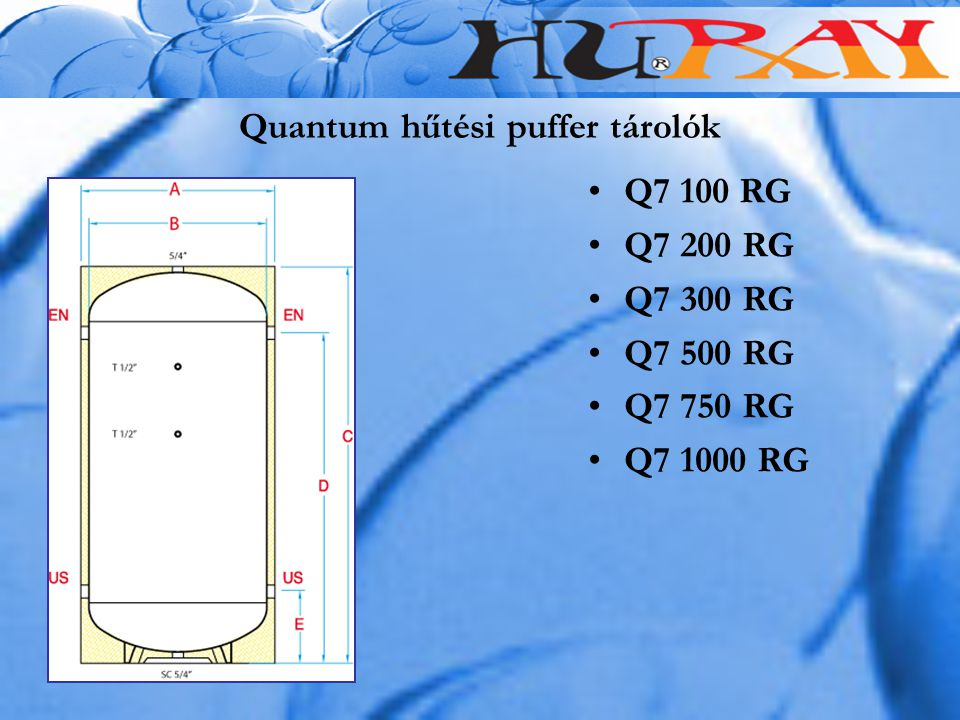 Quantum hűtési puffer tárolók