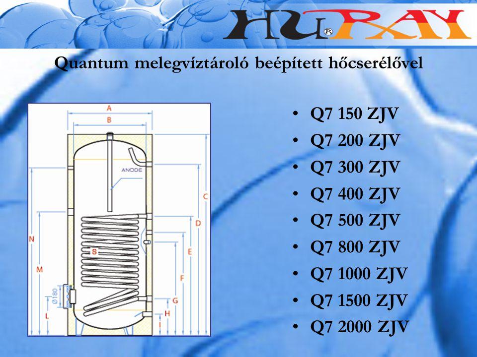 Quantum melegvíztároló beépített hőcserélővel