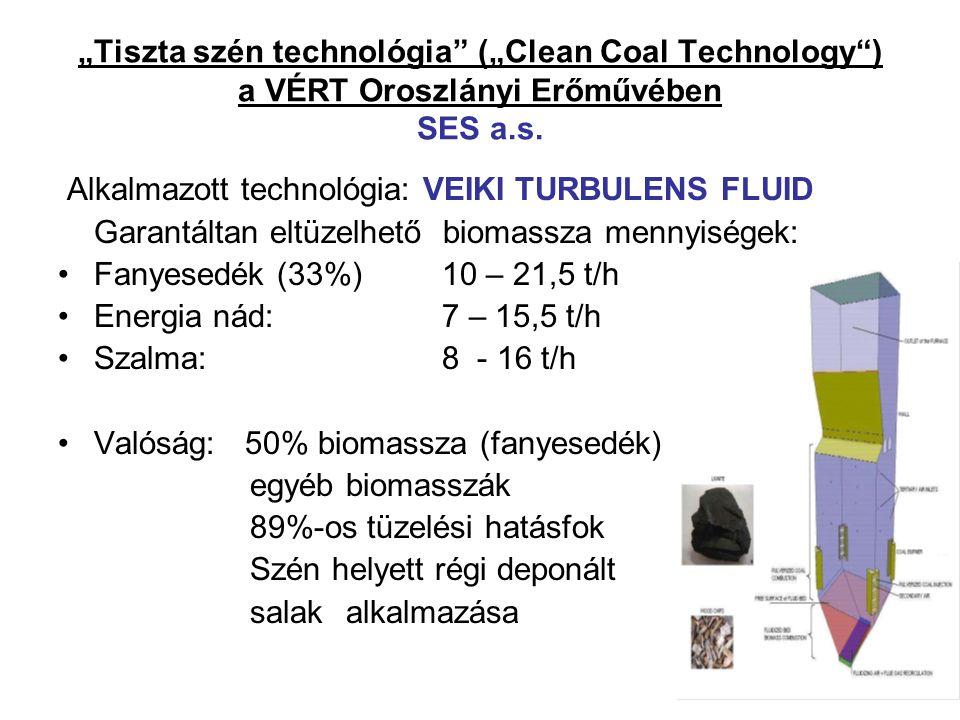"""""""Tiszta szén technológia (""""Clean Coal Technology ) a VÉRT Oroszlányi Erőművében SES a.s."""