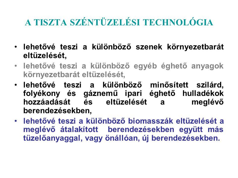 A TISZTA SZÉNTÜZELÉSI TECHNOLÓGIA