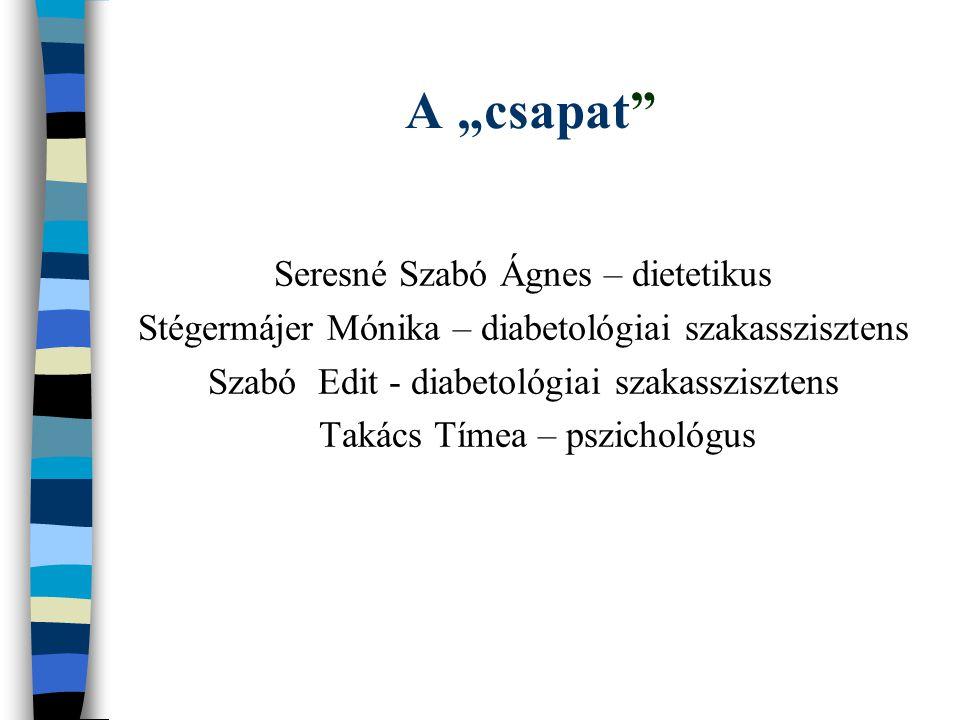 """A """"csapat Seresné Szabó Ágnes – dietetikus"""