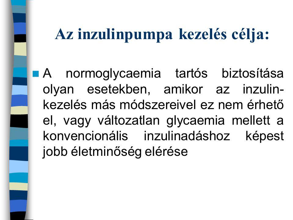 Az inzulinpumpa kezelés célja: