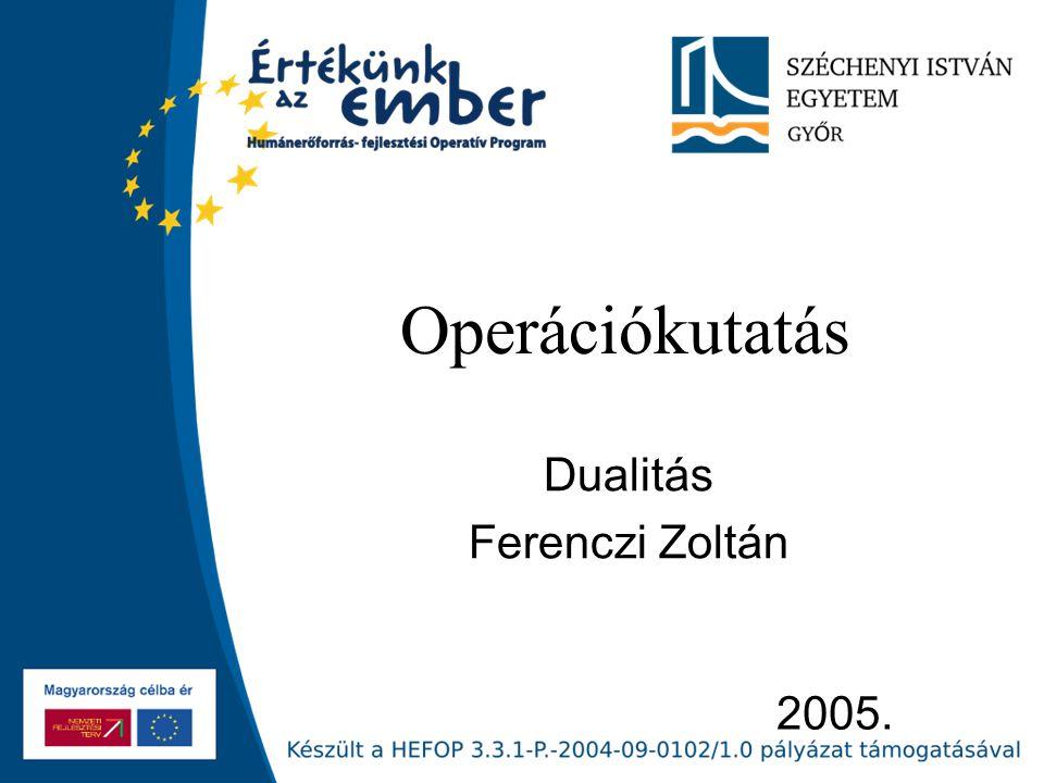 Dualitás Ferenczi Zoltán