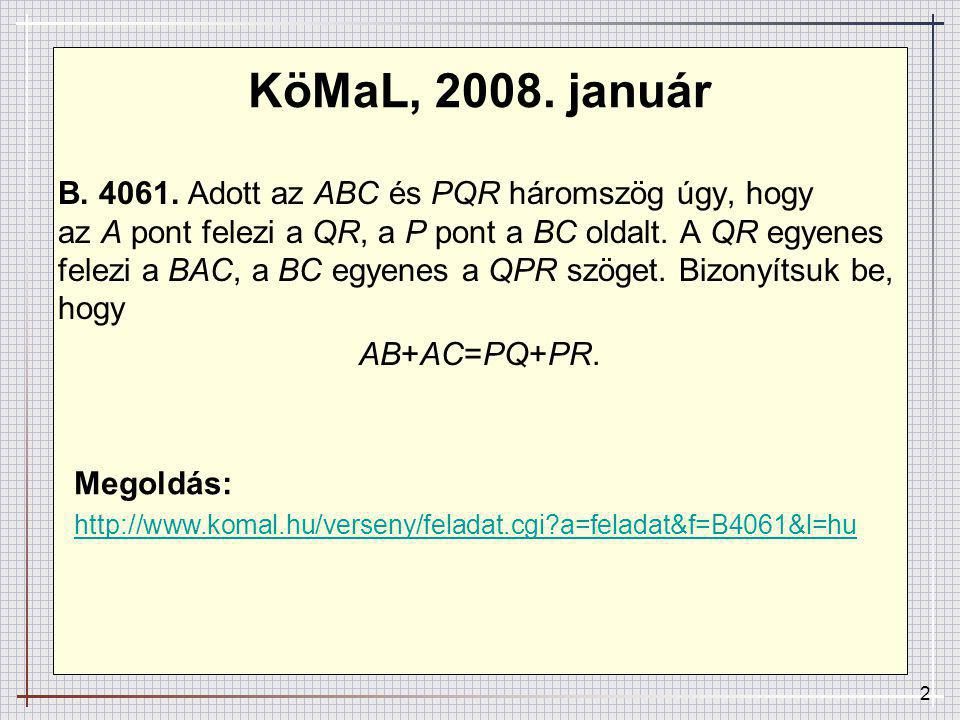 KöMaL, 2008. január