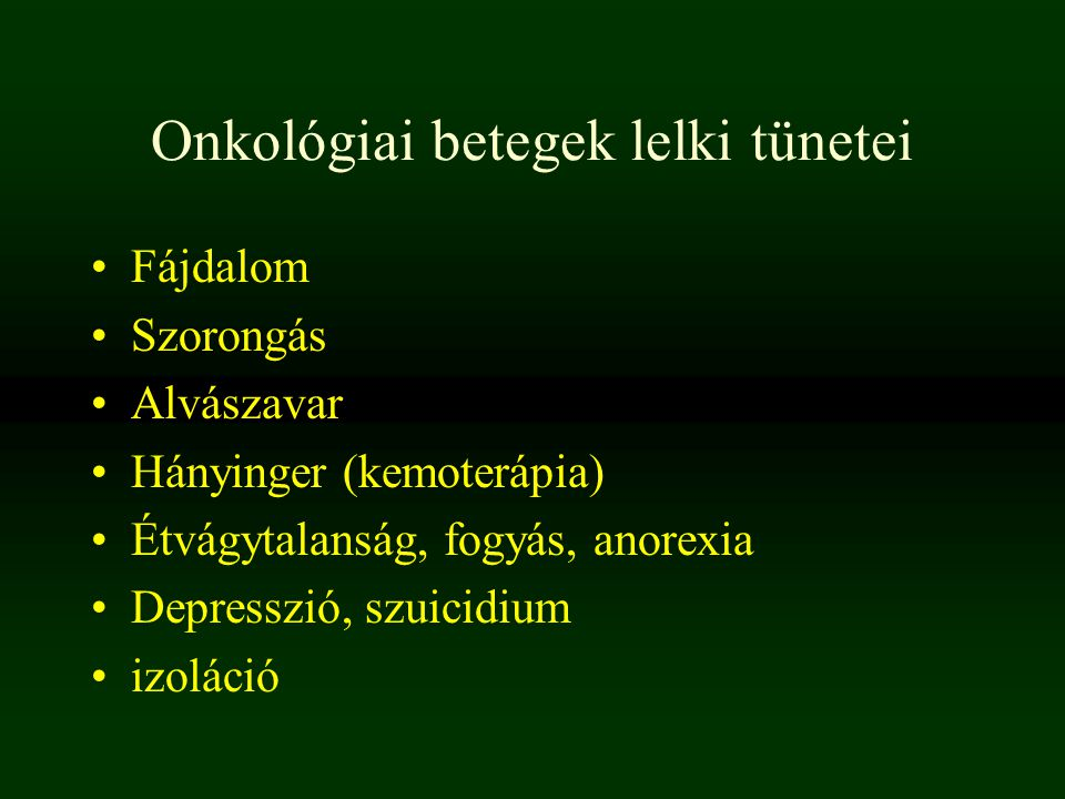 Onkológiai betegek lelki tünetei