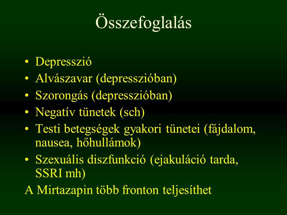 Összefoglalás Depresszió Alvászavar (depresszióban)