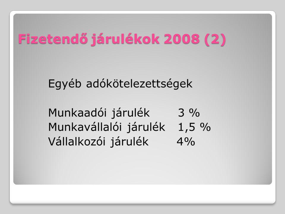 Fizetendő járulékok 2008 (2)