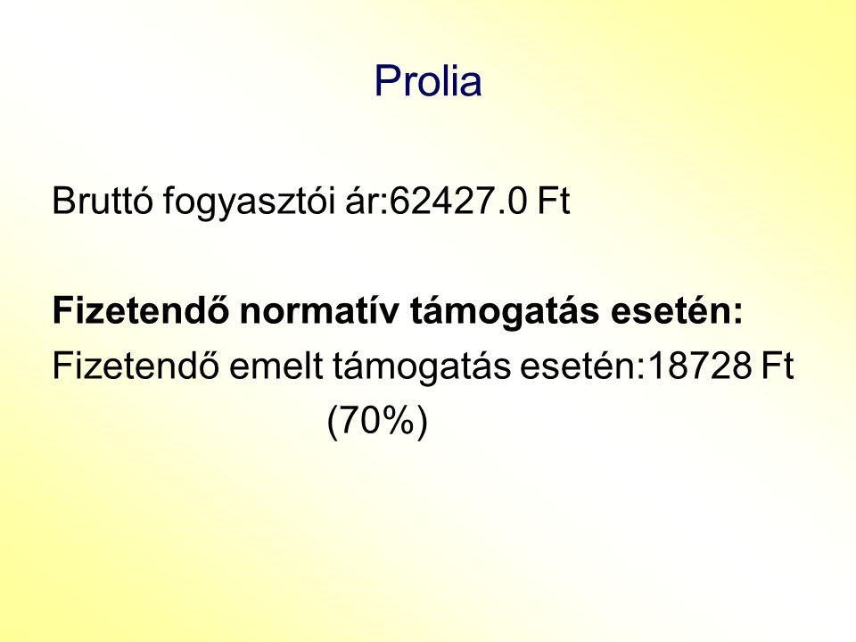 Prolia Bruttó fogyasztói ár:62427.0 Ft