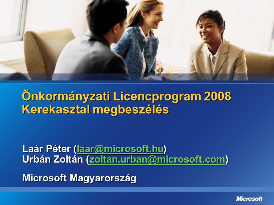 Önkormányzati Licencprogram 2008 Kerekasztal megbeszélés