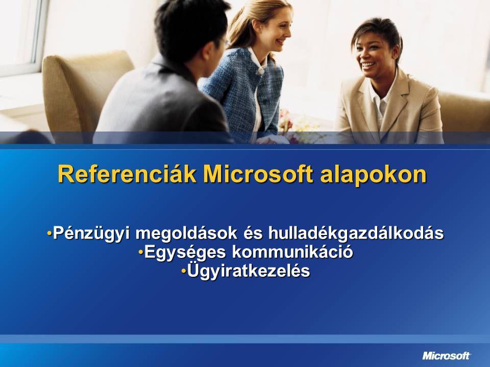 Referenciák Microsoft alapokon